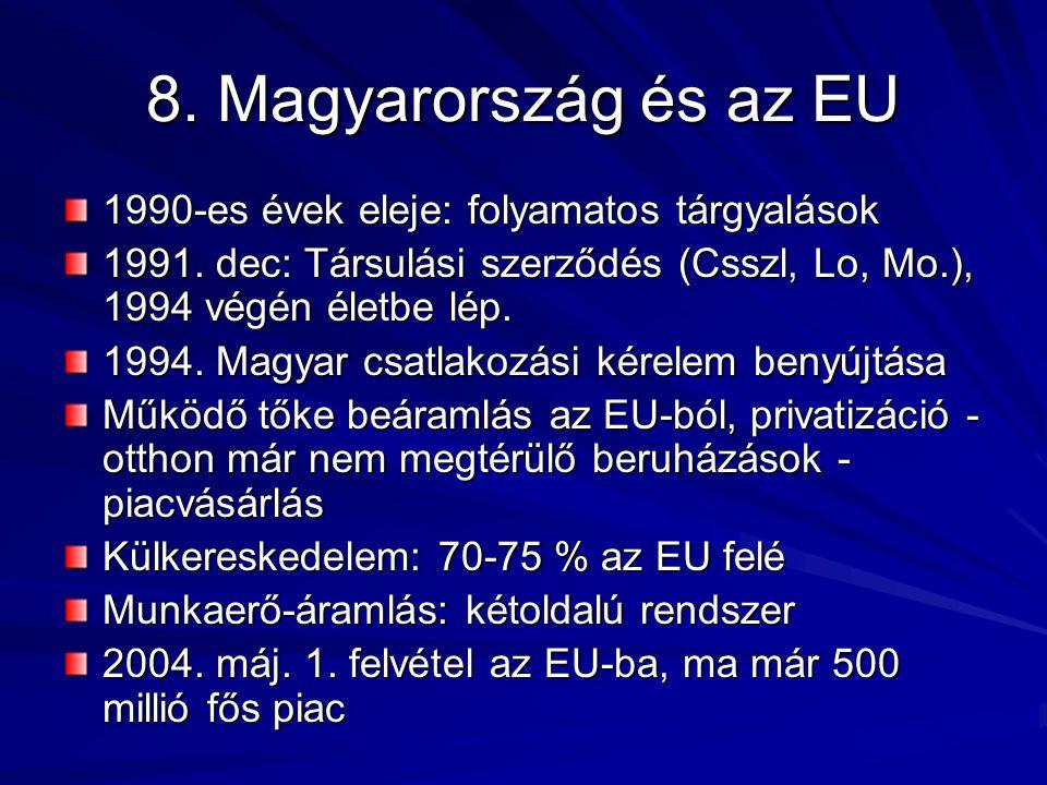 8. Magyarország és az EU 1990-es évek eleje: folyamatos tárgyalások 1991.