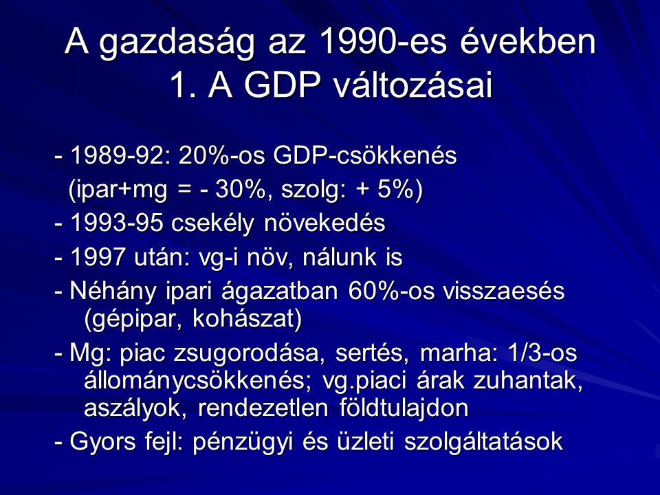 A gazdaság az 1990-es években 1.