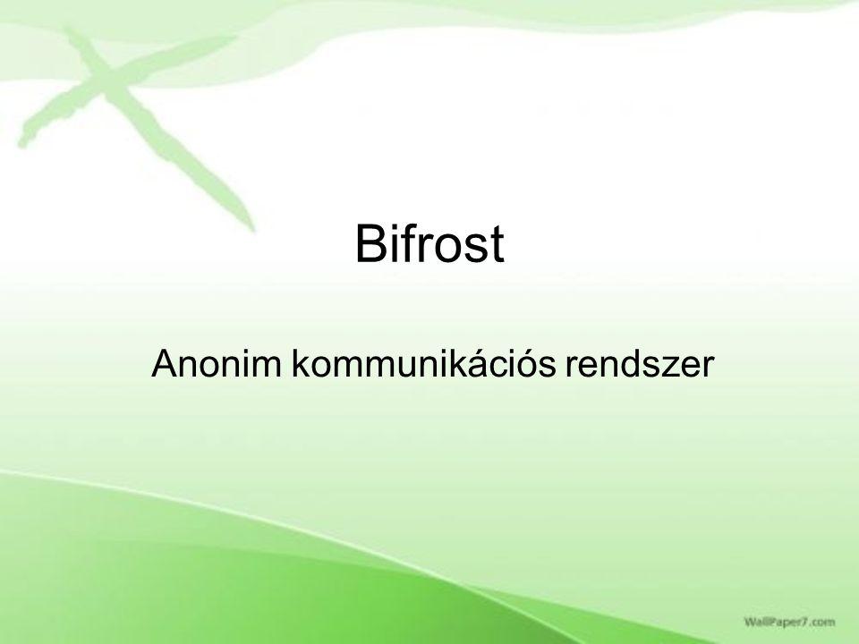 Bifrost Anonim kommunikációs rendszer
