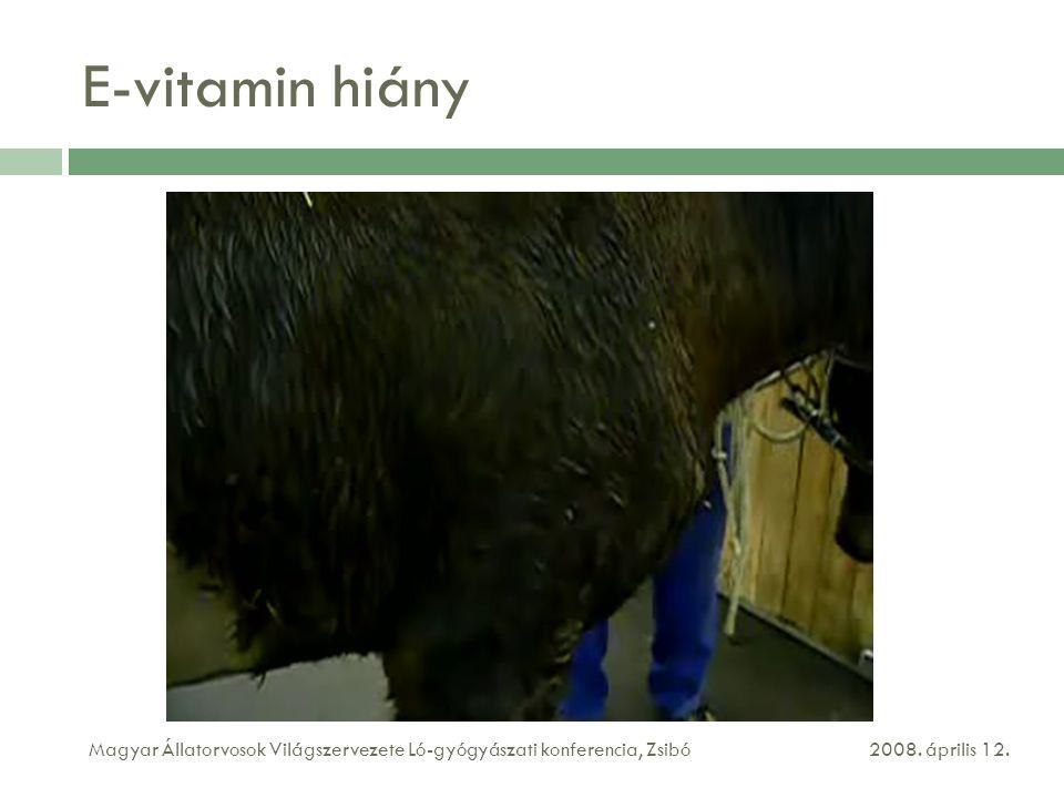 E-vitamin hiány 2008.