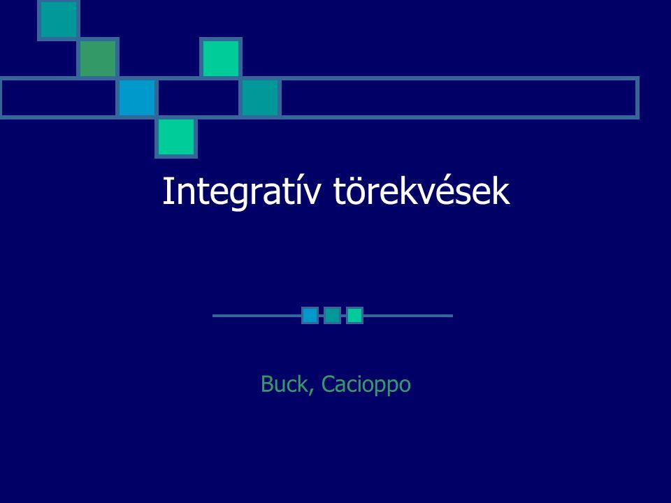 Integratív törekvések Buck, Cacioppo