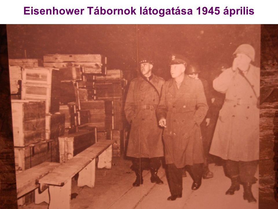 Eisenhower Tábornok látogatása 1945 április