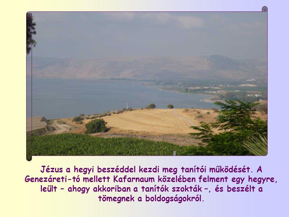 Jézus a hegyi beszéddel kezdi meg tanítói működését.