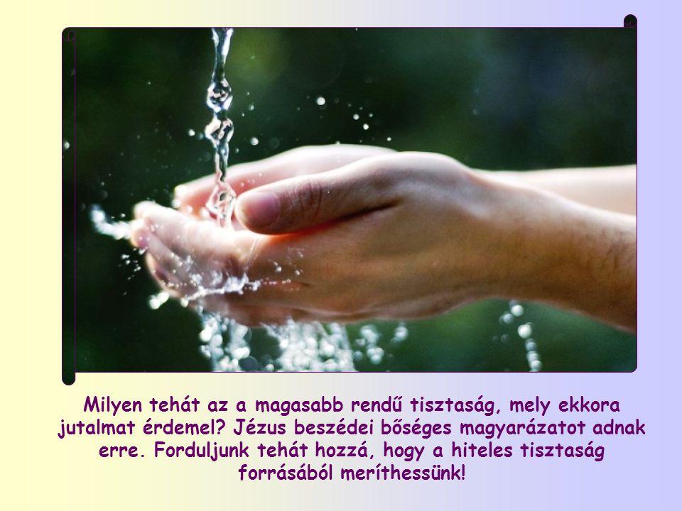 Milyen tehát az a magasabb rendű tisztaság, mely ekkora jutalmat érdemel.