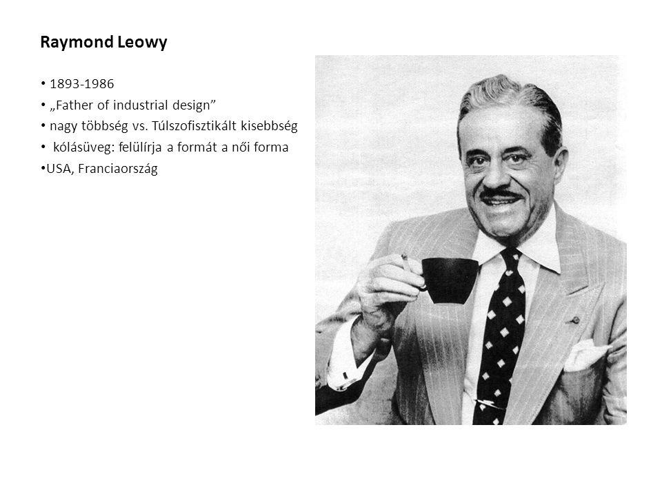 """Raymond Leowy 1893-1986 """"Father of industrial design nagy többség vs."""