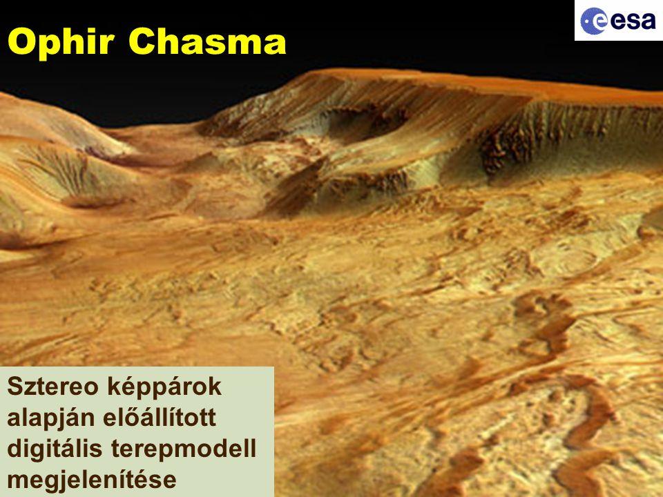 Ophir Chasma Sztereo képpárok alapján előállított digitális terepmodell megjelenítése