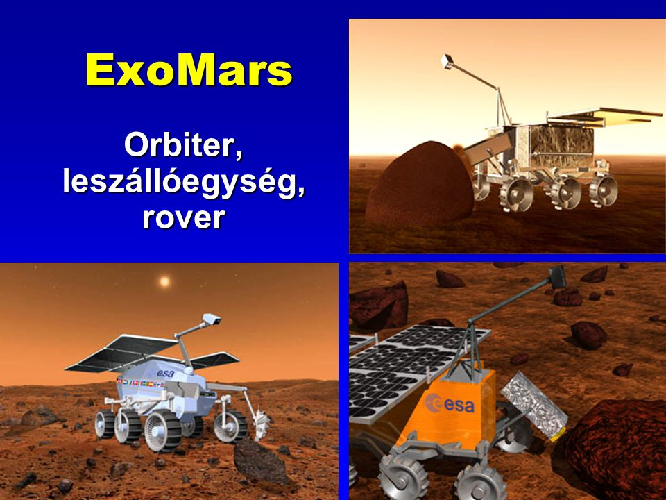 ExoMars Orbiter, leszállóegység, rover