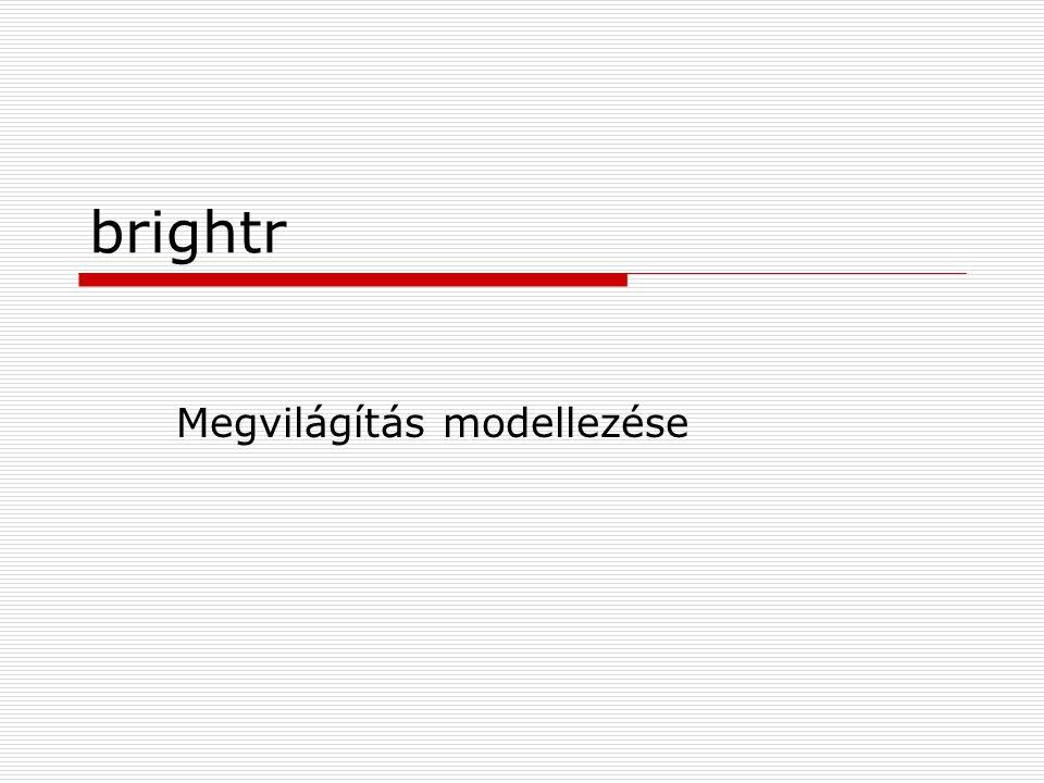 brightr Megvilágítás modellezése