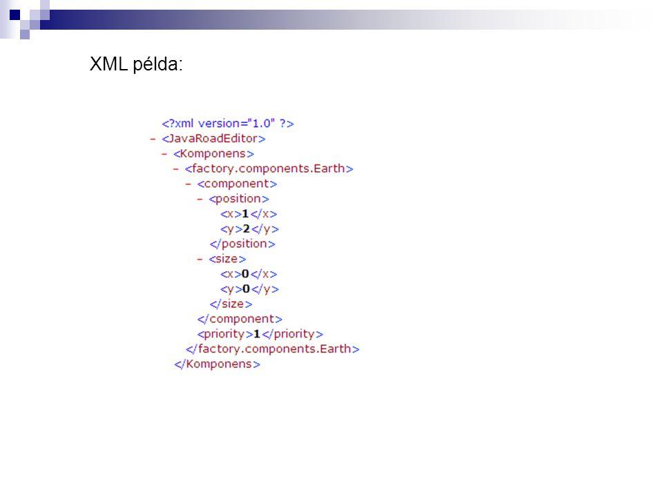 XML példa: