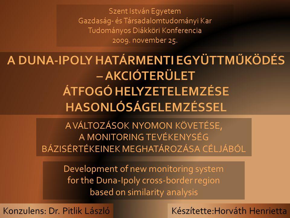 Készítette:Horváth Henrietta Szent István Egyetem Gazdaság- és Társadalomtudományi Kar Tudományos Diákköri Konferencia 2009.