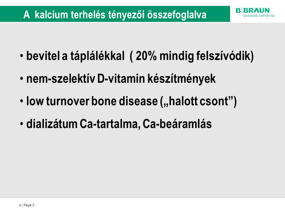 sl | Page3 A kalcium terhelés tényezői összefoglalva bevitel a táplálékkal ( 20% mindig felszívódik) nem-szelektív D-vitamin készítmények low turnover