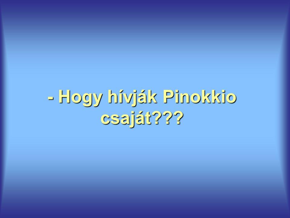 - Hogy hívják Pinokkio csaját