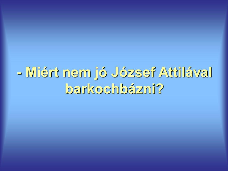 - Miért nem jó József Attilával barkochbázni