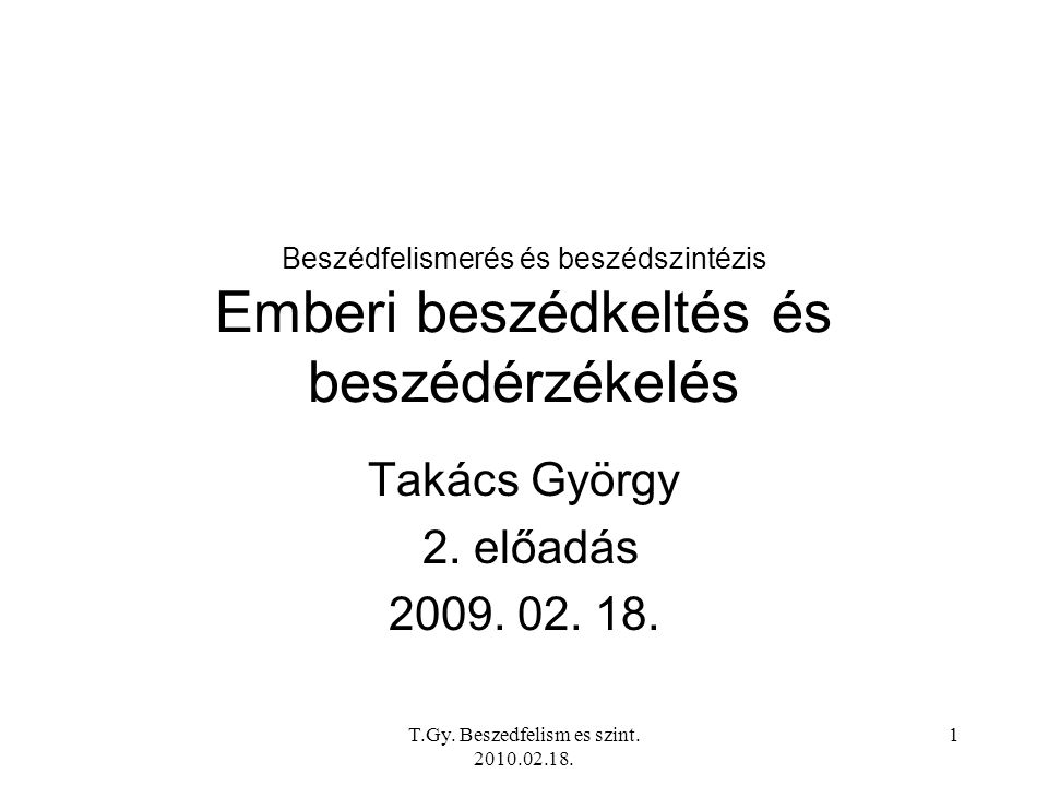 T.Gy. Beszedfelism es szint. 2010.02.18. 32 A phon-son átszámítási görbe (Tarnóczy Tamás)