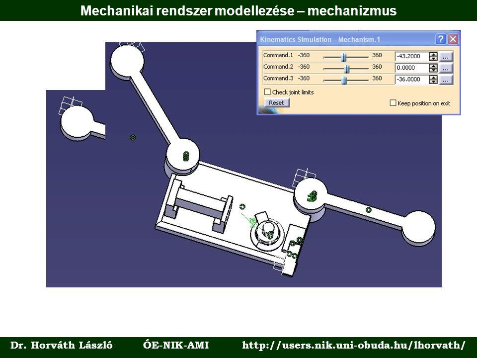 Dr. Horváth László ÓE-NIK-AMI http://users.nik.uni-obuda.hu/lhorvath/ Mechanikai rendszer modellezése – mechanizmus