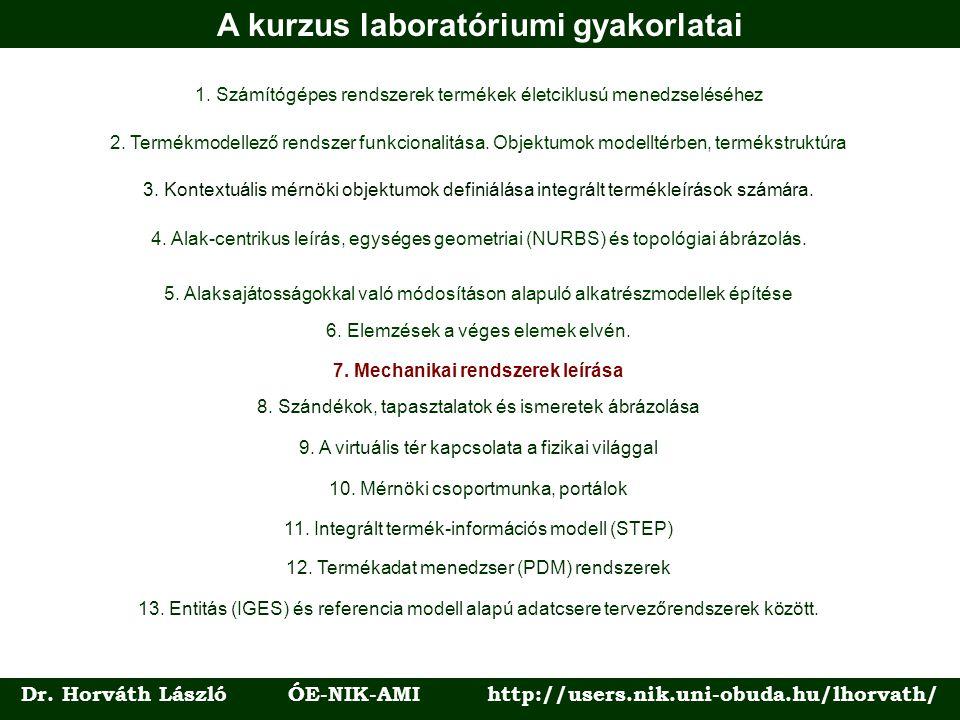 A kurzus laboratóriumi gyakorlatai 1.