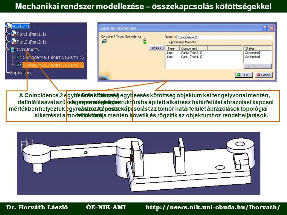 Dr. Horváth László ÓE-NIK-AMI http://users.nik.uni-obuda.hu/lhorvath/ A Coincidence.2 egybeesés kötöttség definiálásával szükséges és elégséges mérték