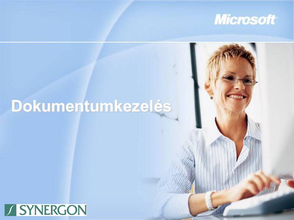 A Synergon MOSS2007 alapú Iratkezelő megoldása Frunza Zsolt Szoftvertanácsadás Üzletágigazgató Synergon Informatika Nyrt.