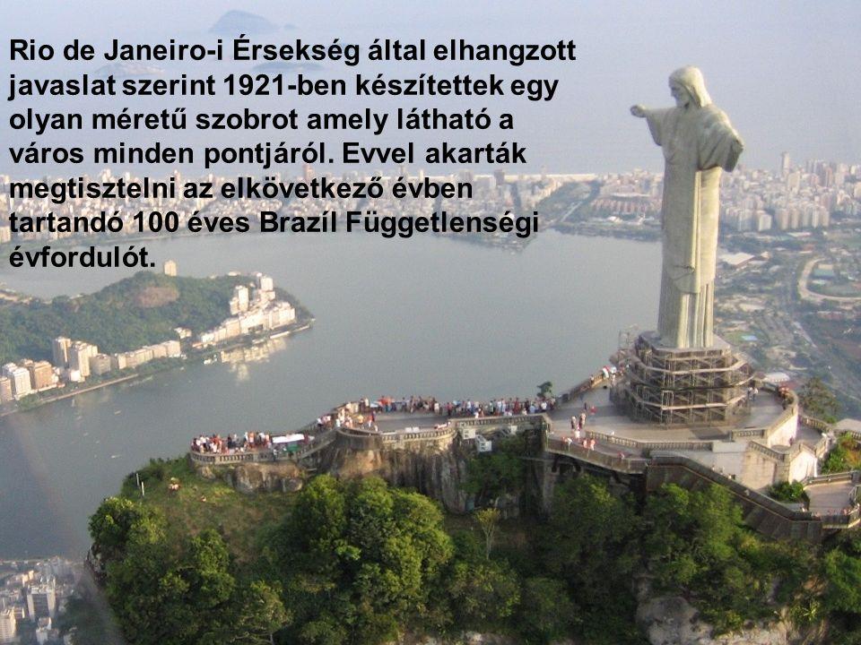 3. A MEGVÁLTÓ SZOBRA Jézus Krisztus szobra Rio de Janeiro felett emelkedik, a város legvonzóbb építménye. A Corcovado-hegyen, 710 m. magasságban helye