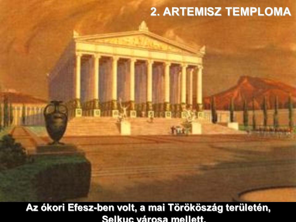 1. ZEUSZ SZOBRA Olimpia városában volt,Görögország nyugati partvidékén, Athéntől 150 km.re.