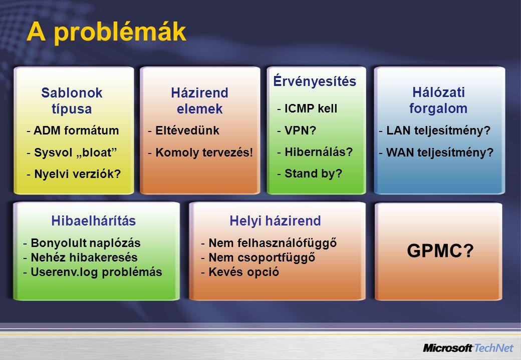 """Sablonok típusa - ADM formátum - Sysvol """"bloat - Nyelvi verziók."""