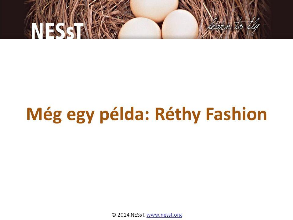 © 2014 NESsT. www.nesst.orgwww.nesst.org Még egy példa: Réthy Fashion
