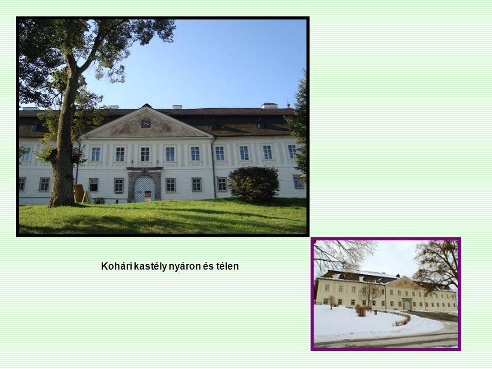 Kohári kastély nyáron és télen