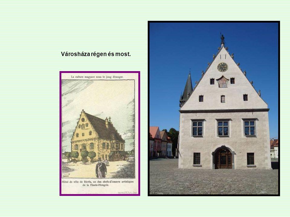 Városháza régen és most.