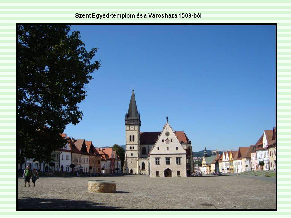 Szent Egyed-templom és a Városháza 1508-ból