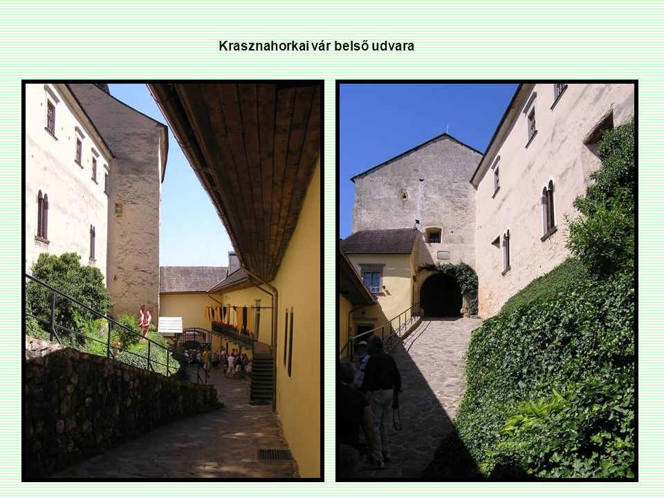 Krasznahorkai vár belső udvara