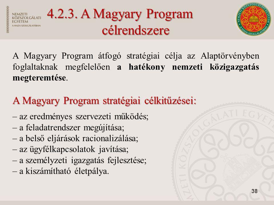 A Magyary Program átfogó stratégiai célja az Alaptörvényben foglaltaknak megfelelően a hatékony nemzeti közigazgatás megteremtése. A Magyary Program s