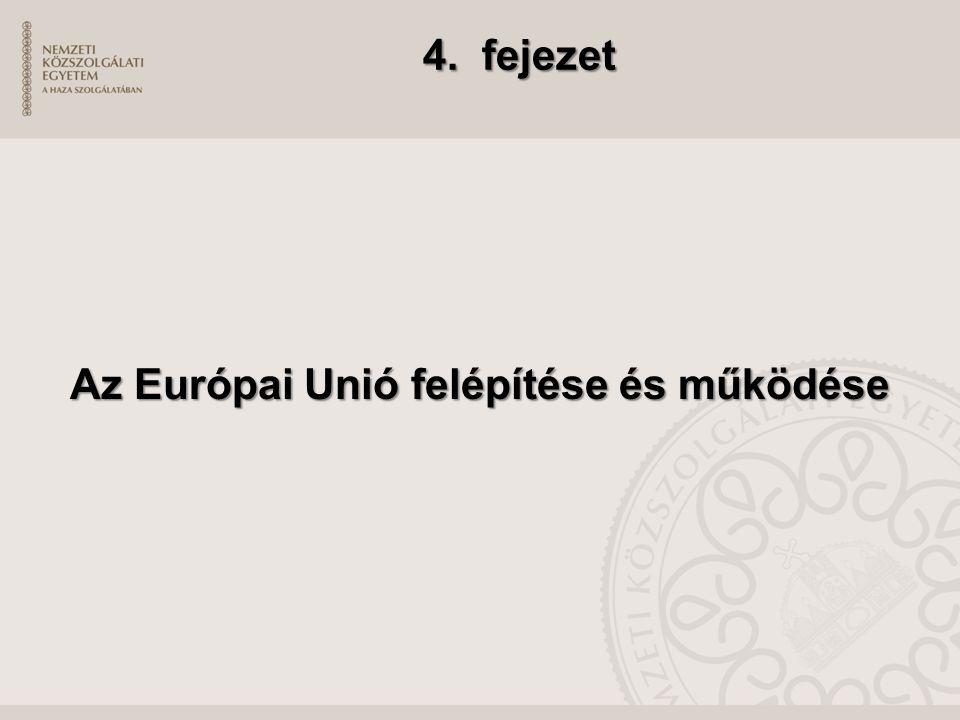 4. fejezet Az Európai Unió felépítése és működése