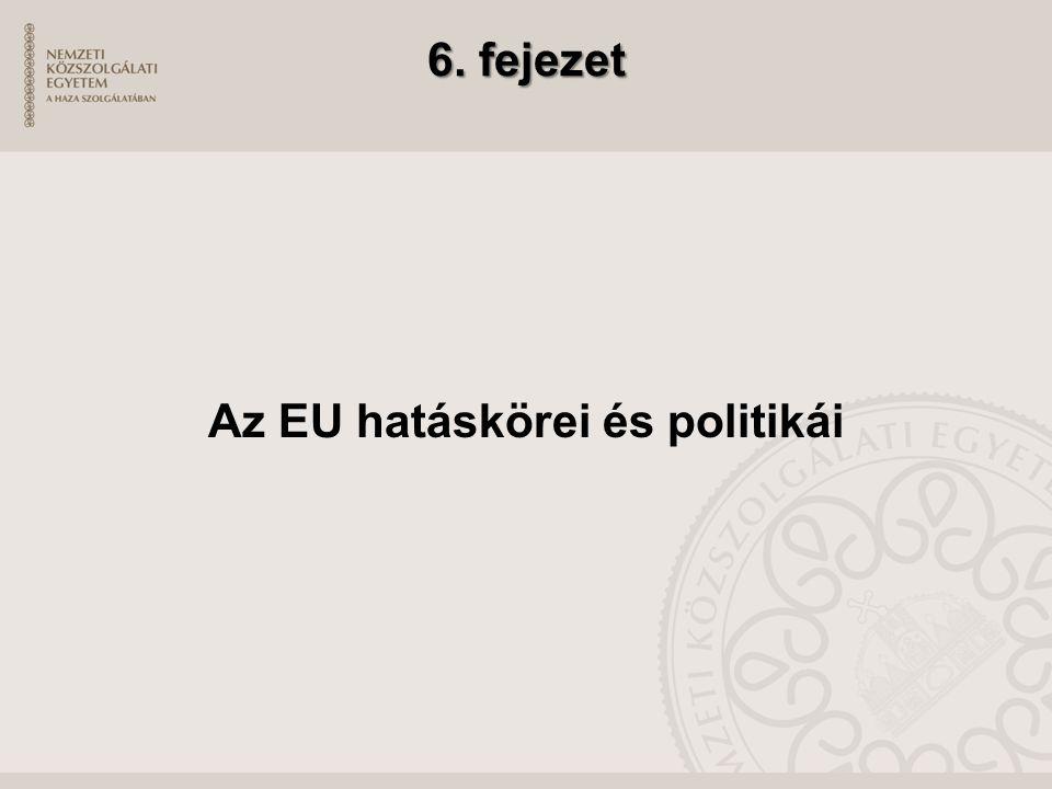 6. fejezet 6. fejezet Az EU hatáskörei és politikái