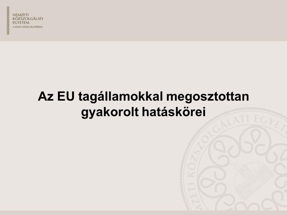 Az EU tagállamokkal megosztottan gyakorolt hatáskörei