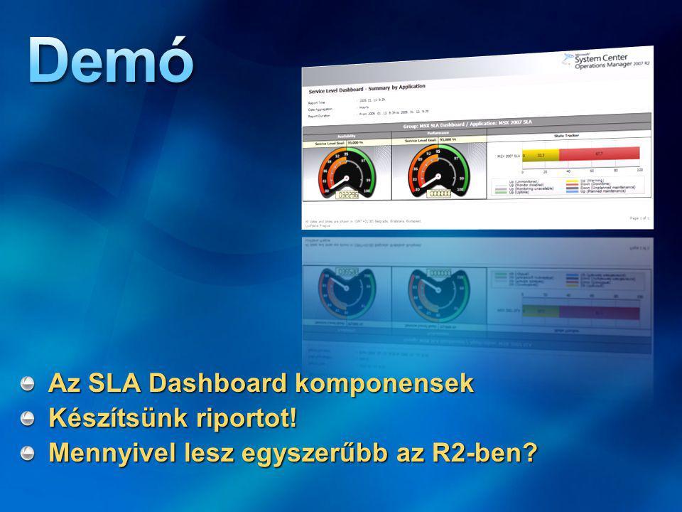 Az SLA Dashboard komponensek Készítsünk riportot! Mennyivel lesz egyszerűbb az R2-ben?