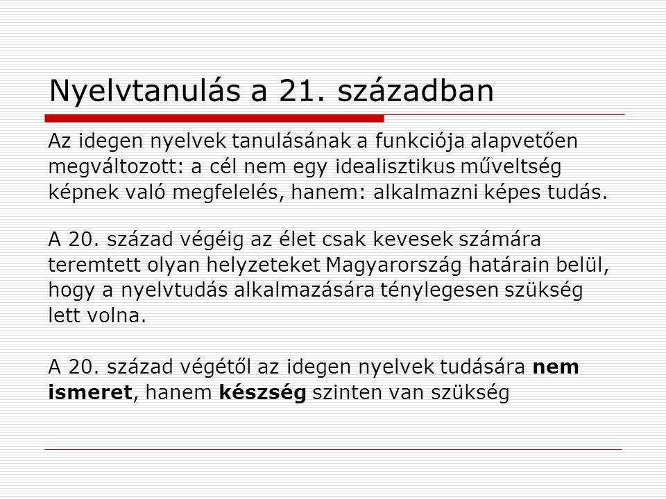 Nyelvtanulás a 21.