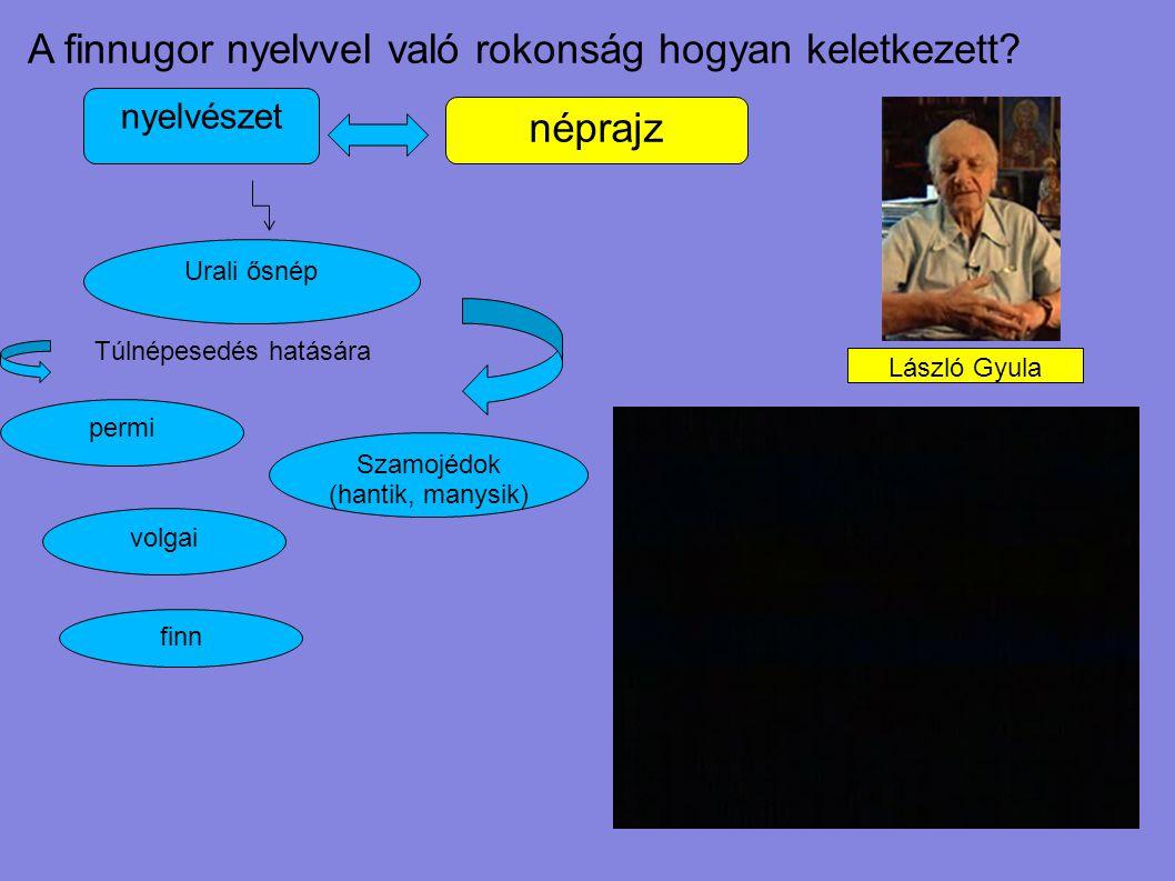 Urali ősnép Szamojédok (hantik, manysik) permi Túlnépesedés hatására A finnugor nyelvvel való rokonság hogyan keletkezett? nyelvészet néprajz volgai f