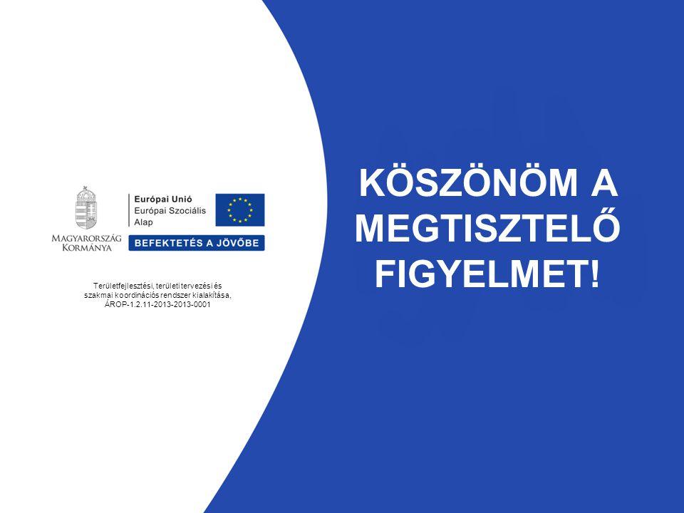 KÖSZÖNÖM A MEGTISZTELŐ FIGYELMET! Területfejlesztési, területi tervezési és szakmai koordinációs rendszer kialakítása, ÁROP-1.2.11-2013-2013-0001