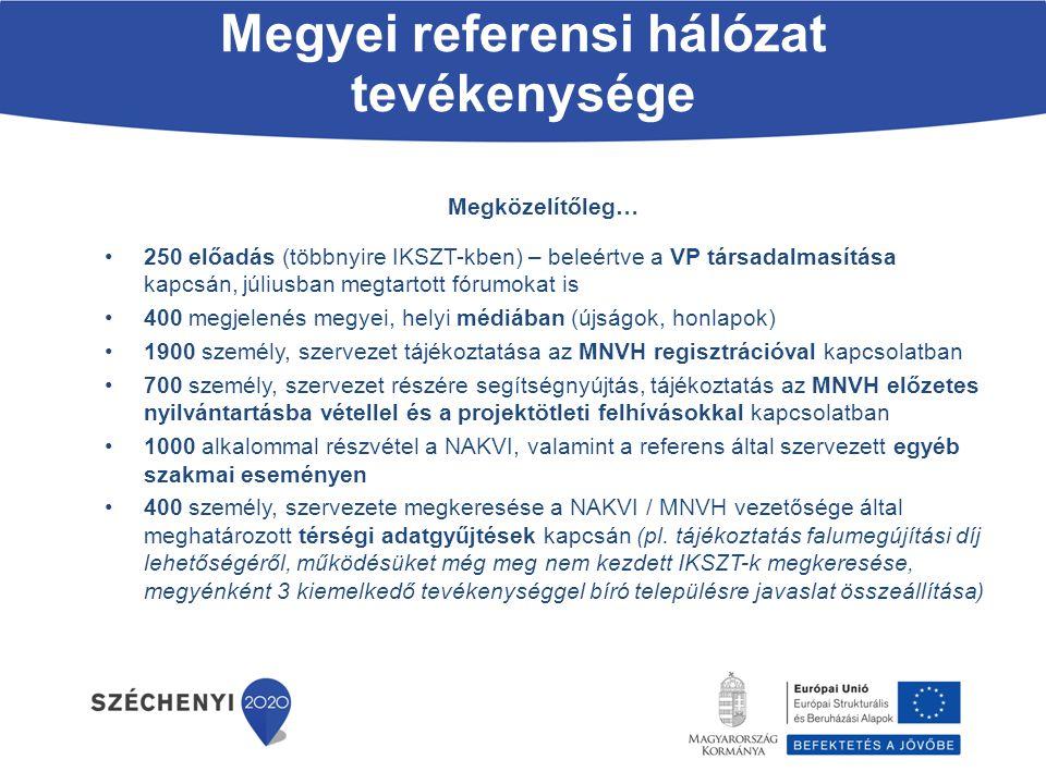 Megyei referensi hálózat tevékenysége Megközelítőleg… 250 előadás (többnyire IKSZT-kben) – beleértve a VP társadalmasítása kapcsán, júliusban megtarto