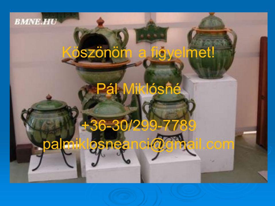 Köszönöm a figyelmet! Pál Miklósné +36-30/299-7789 palmiklosneanci@gmail.com