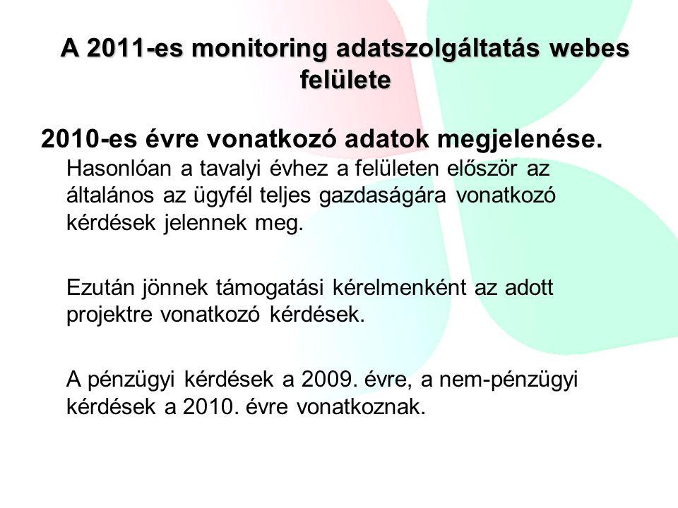 2010-es évre vonatkozó adatok megjelenése.