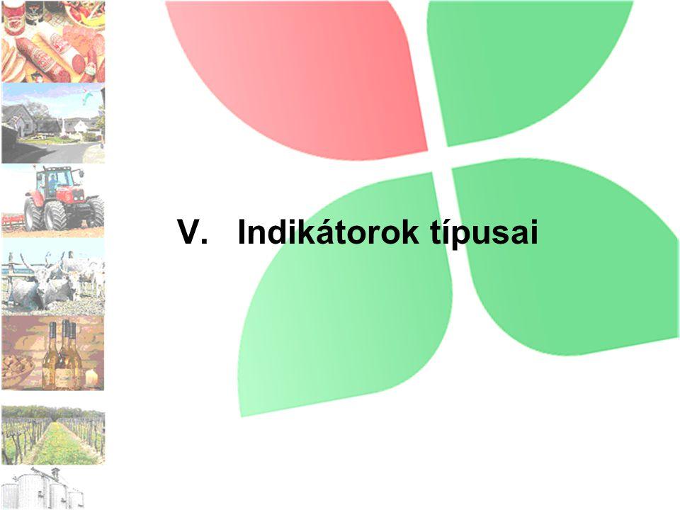 V. Indikátorok típusai