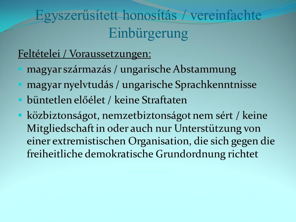 Honosítás / Einbürgerung 2011.2012.