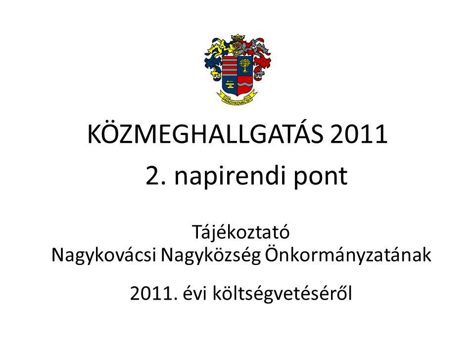 KÖZMEGHALLGATÁS 2011 Tájékoztató Nagykovácsi Nagyközség Önkormányzatának 2011.