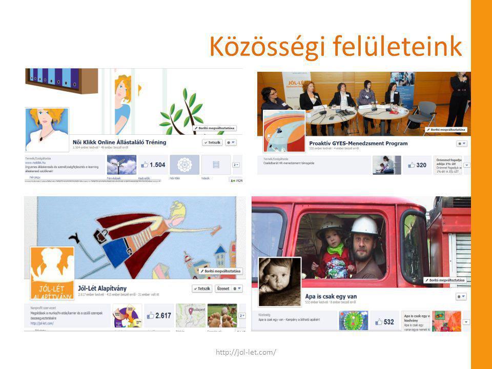 Közösségi felületeink http://jol-let.com/