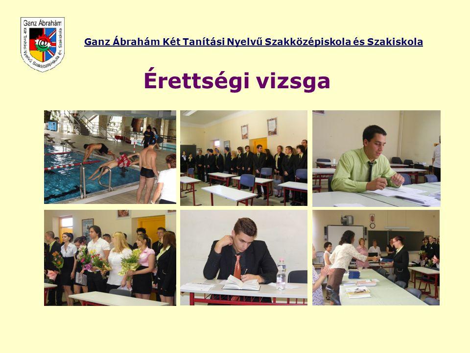 Ganz Ábrahám Két Tanítási Nyelvű Szakközépiskola és Szakiskola Érettségi vizsga