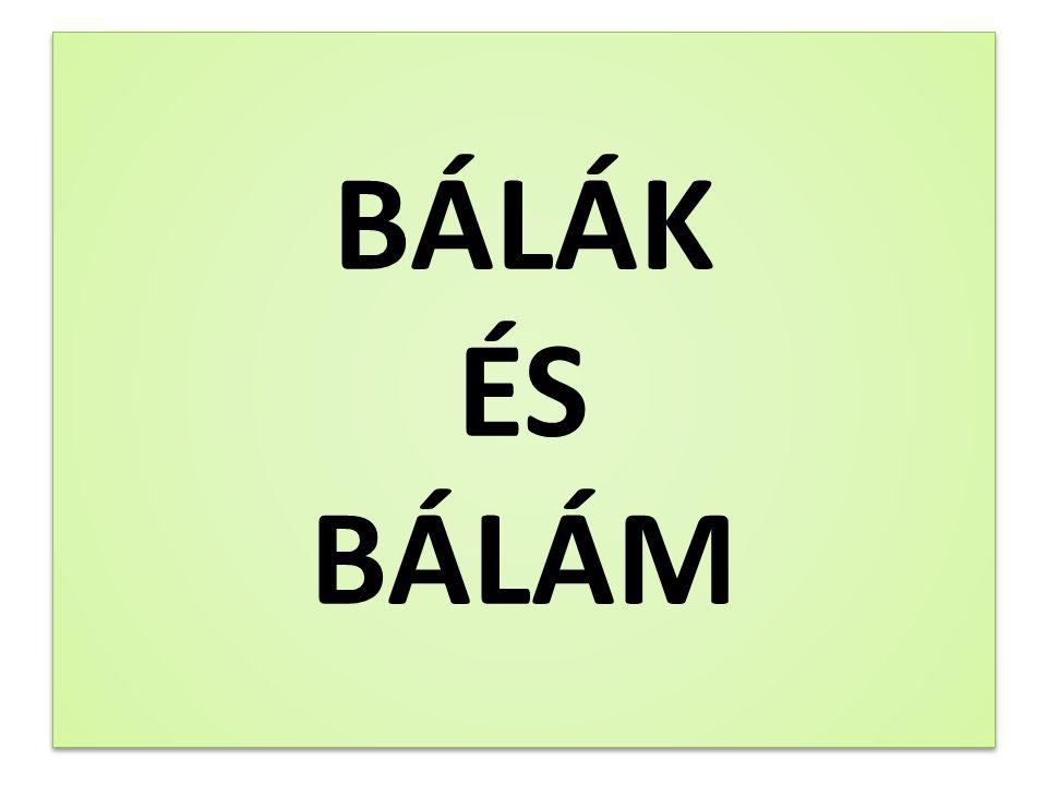 BÁLÁK ÉS BÁLÁM