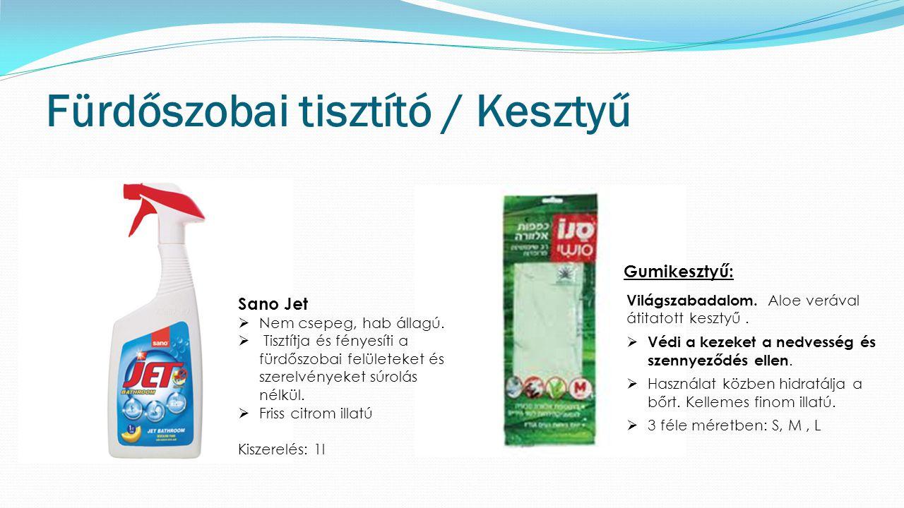 Fürdőszobai tisztító / Kesztyű Gumikesztyű: Világszabadalom.