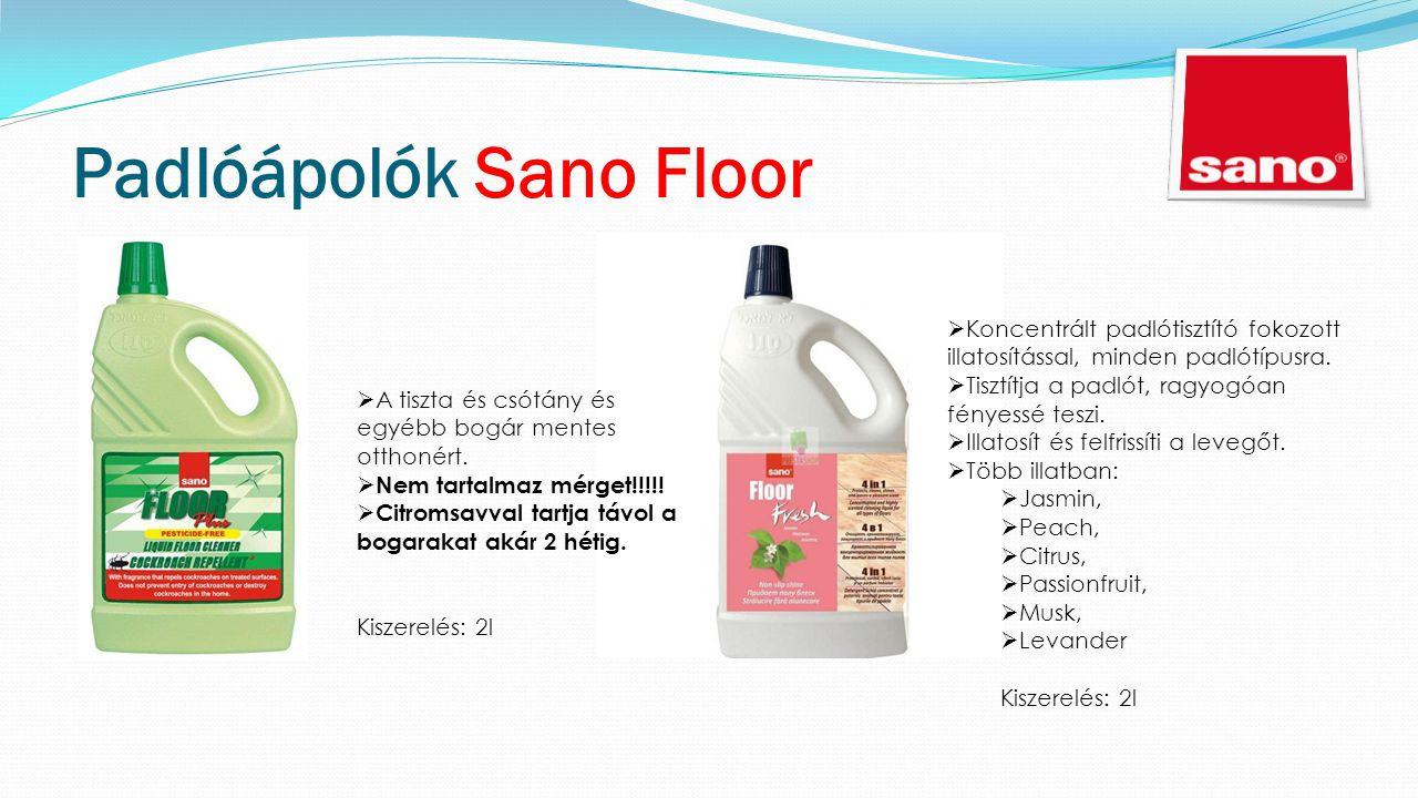 Padlóápolók Sano Floor  Koncentrált padlótisztító fokozott illatosítással, minden padlótípusra.