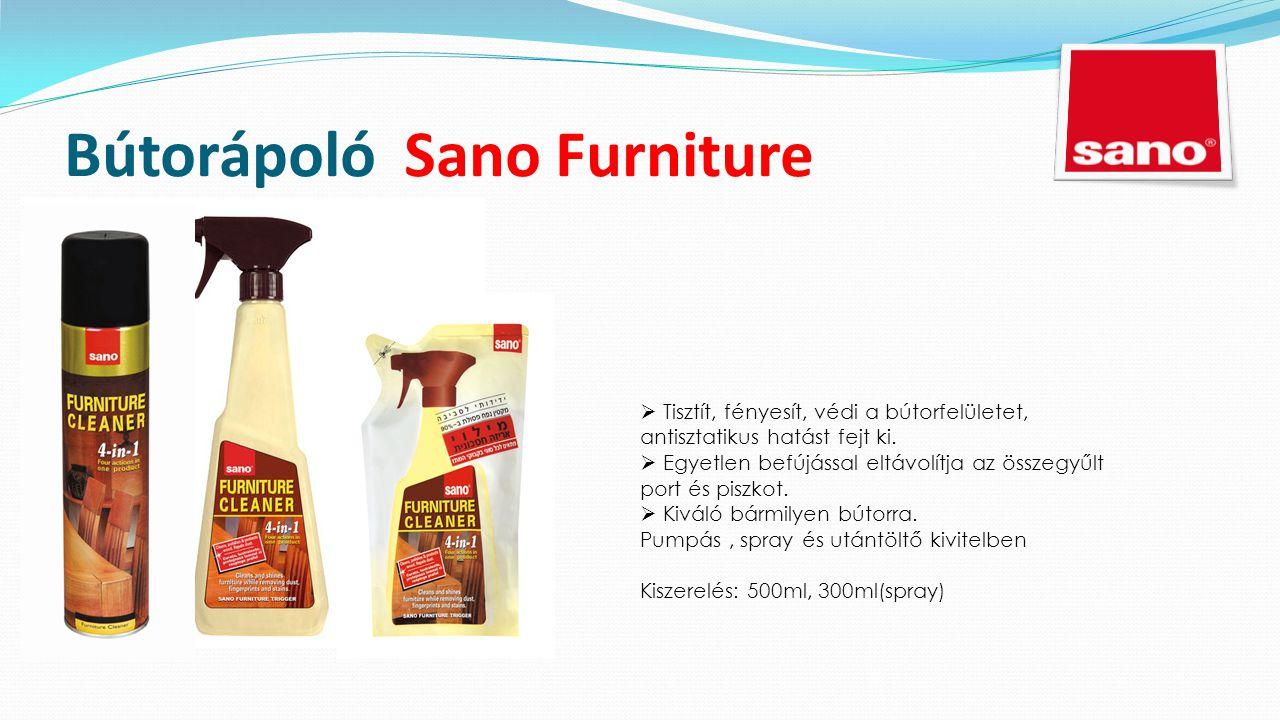 Bútorápoló Sano Furniture  Tisztít, fényesít, védi a bútorfelületet, antisztatikus hatást fejt ki.